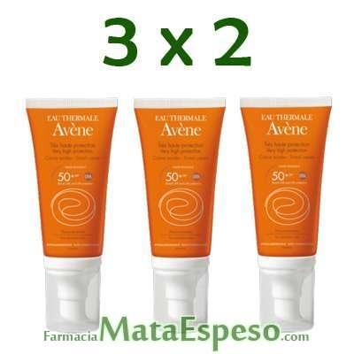 3X2 AVENE SPF 50+ CREMA MUY ALTA PROTECCIÓN COLOR  50 ML
