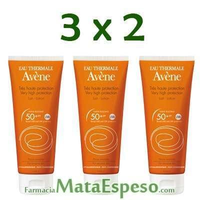 3X2 AVENE SPF 50+ LECHE MUY ALTA PROTECCIÓN  100 ML