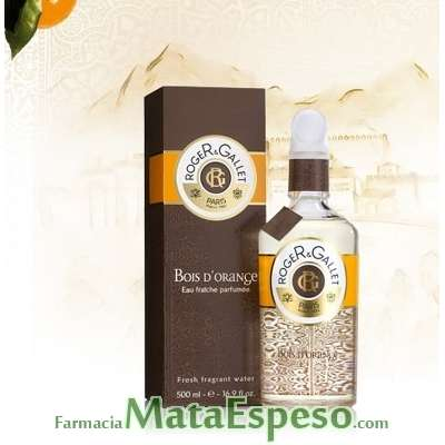 ROGER & GALLET BOIS D'ORANGE EUA DE COLOGNE VAPORIZADOR 500 ML